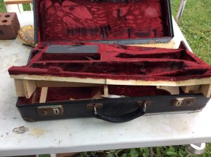 Sax Case Before Repairs